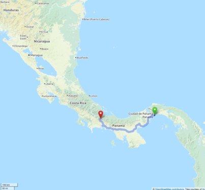Карта, маркираща къде сме се намирали в този ден